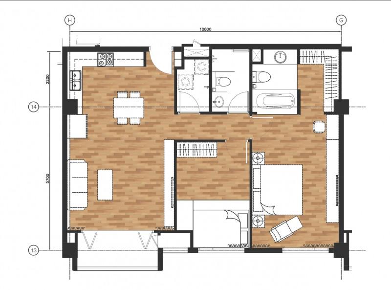 Tư vấn thiết kế nội thất chung cư Airport Plaza 92m2
