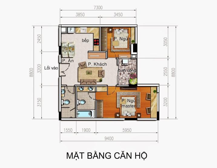 Mặt bằng căn hộ chung cư Sunny Plaza