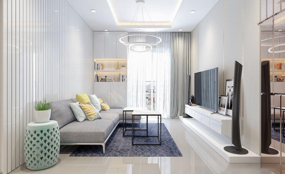 Thiết kế nội thất chung cư Lexington 66m2 – Chị Trang