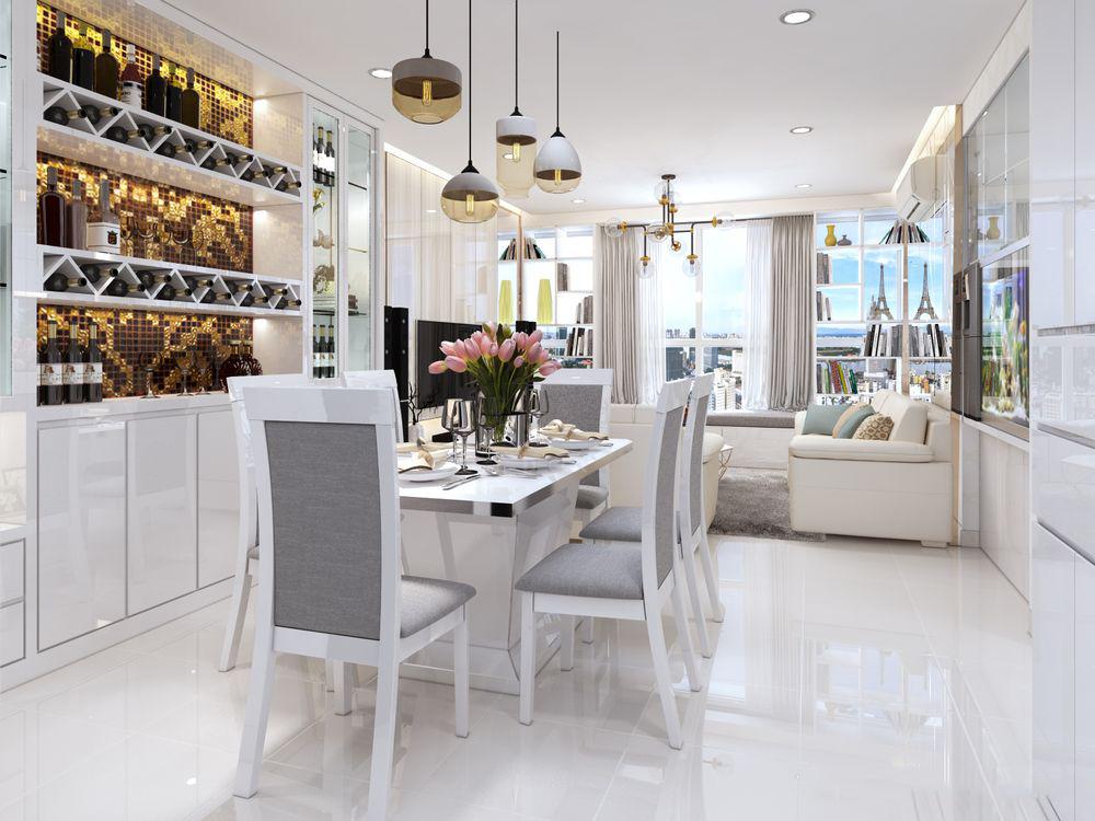 Thiết kế nội thất chung cư Sunrise City 117m2 – Anh Tín