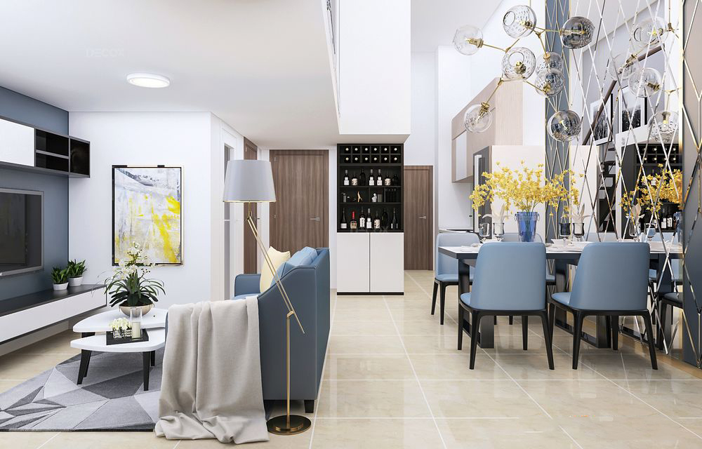 Thiết kế nội thất chung cư La Astoria 51m2 – Anh Nam