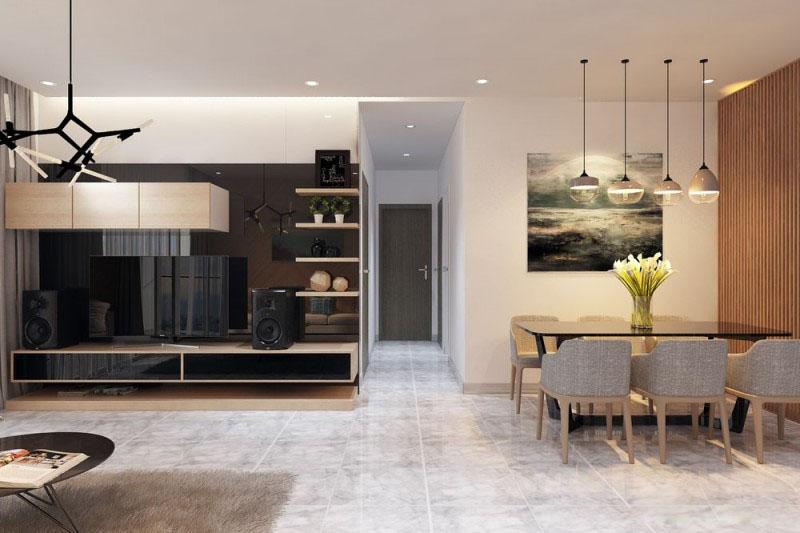Thiết kế nội thất chung cư Sunny Plaza 100m2 – Chị Anh