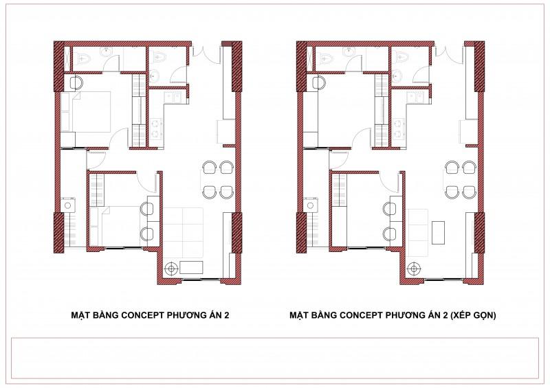 Tư vấn thiết kế nội thất chung cư Topaz Garden 57m2