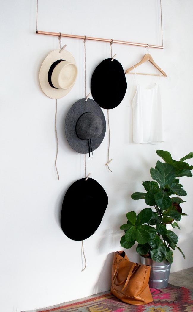 5 kiểu giá treo mũ vừa đa năng, vừa đẹp mắt mà ai cũng có thể làm được
