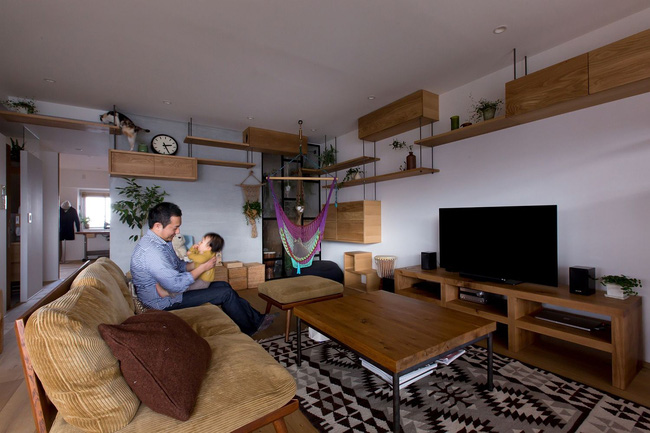 Ngắm căn hộ độc đáo với nội thất đầy sáng tạo của đôi vợ chồng người Nhật