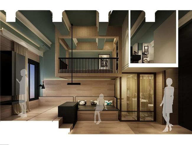 Cải tạo căn hộ 14m² thành không gian đẹp ngất ngây với 3 phòng ngủ tiện dụng