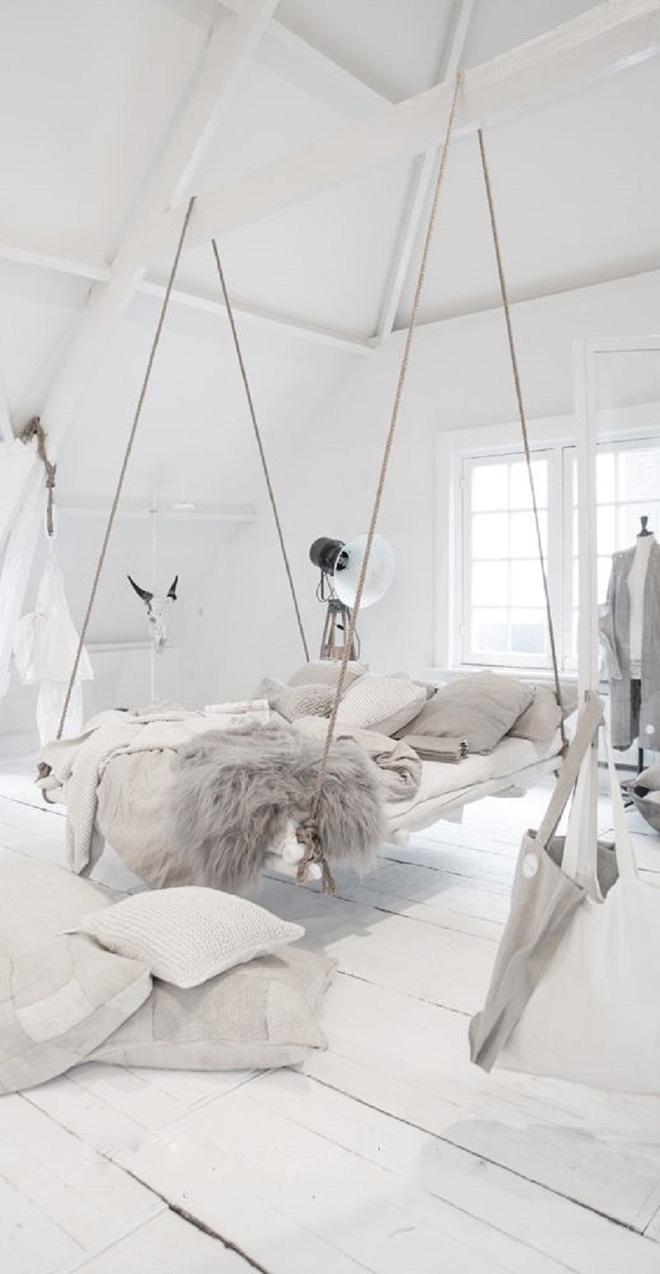 Mê mẩn 8 mẫu giường ngủ treo lơ lửng rất độc đáo và ấn tượng