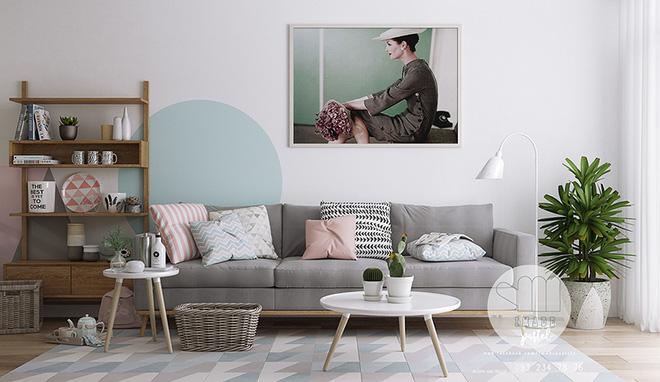 """Cách phối gam màu pastel cho phòng khách mang phong cách Scandinavia """"chuẩn không cần chỉnh"""""""