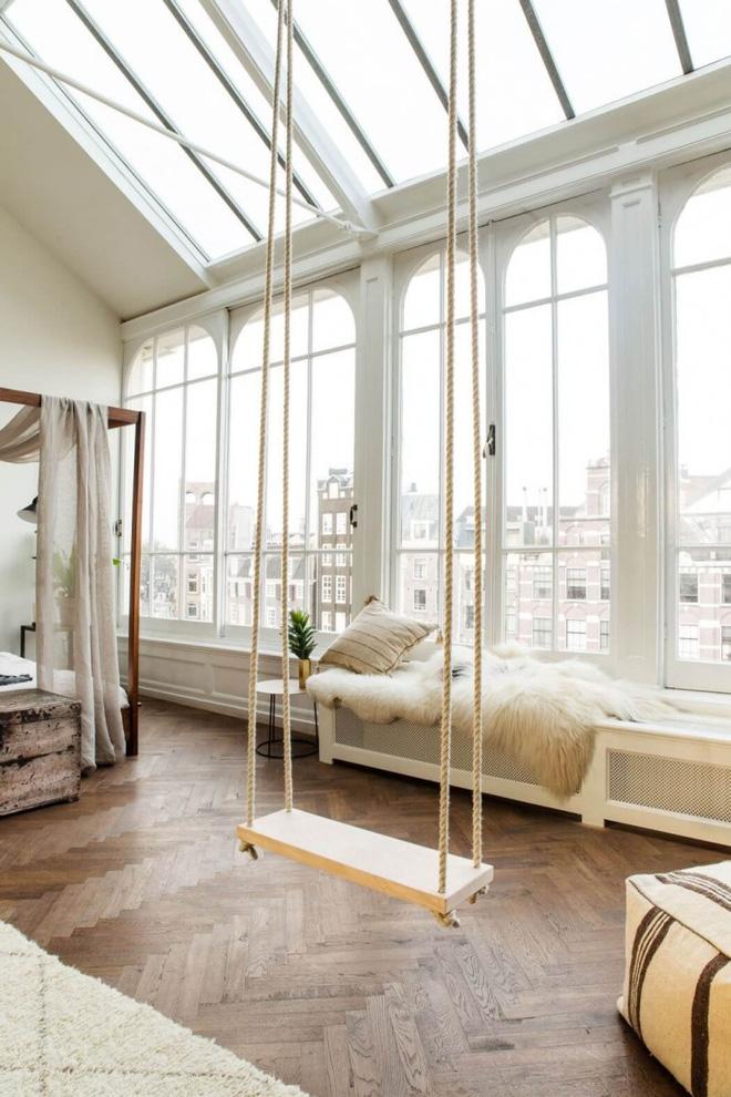 Swing: Ý tưởng thiết kế mà trẻ con hay người lớn đều ao ước được có trong nhà